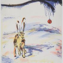 Marie falksten hare litografi(sten)35,7x28,3 cm