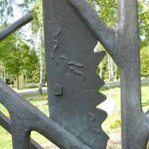 Friskulptur, brons detalj skogskyrkogarden, kungalv